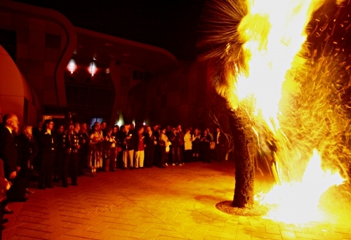 Grass tree burning ceremony at ECU