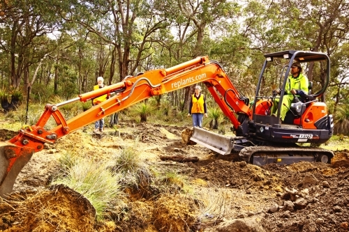 Digging at Mahogany Creek
